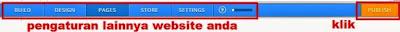 gambar pengaturan Website Di Weebly dan cara mempublishnya
