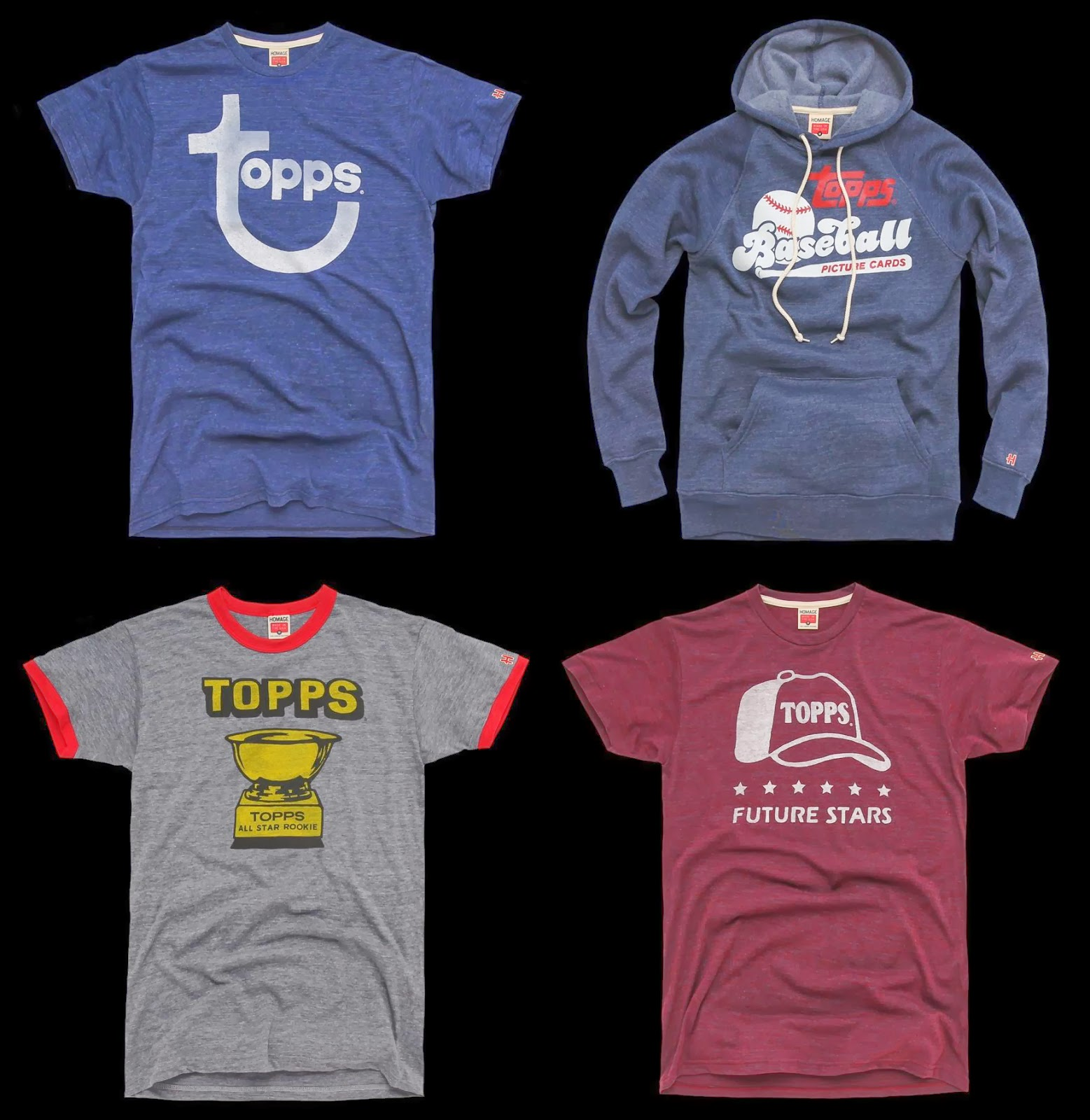 The blot says the topps baseball vintage t shirt for All star t shirts