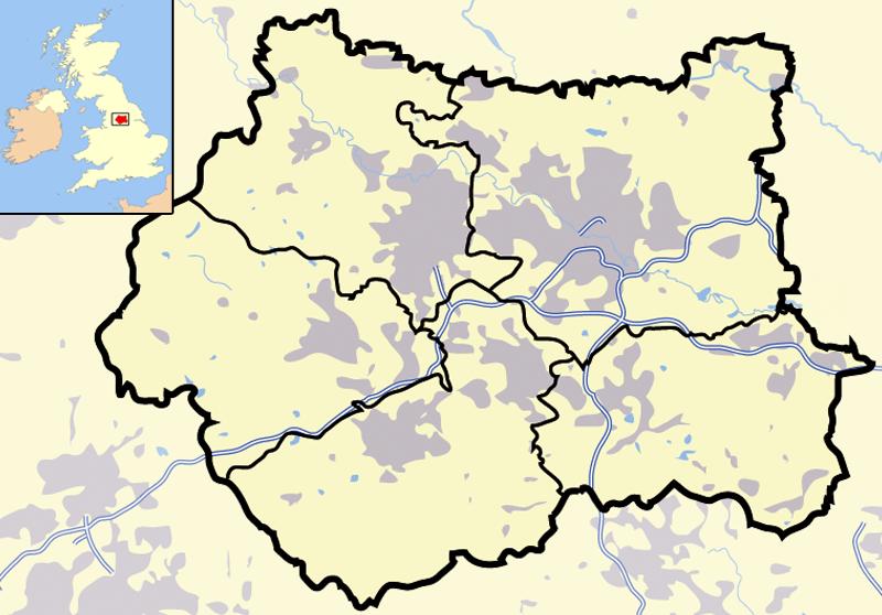 Pdf map Leeds Bradford UK