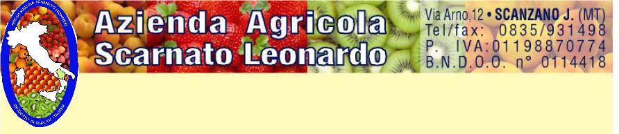 AZ. AGRICOLA SCARNATO LEONARDO