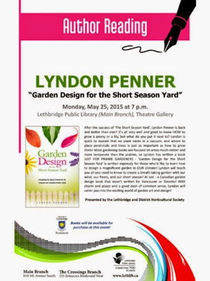May 25 Monthly Meeting, Public Library After the success of 'The Short Season Yard', Lyndon Penner is back and better than ever! It's all very well and good to know HOW to grow a peony or a lily, but what do you put it next to? Lyndon is quick to explain that no plant exists in a vacuum, and where to place perennials and trees is just as important as how to grow them! Most gardening books are focused on areas much milder and more temperate than the prairies, so Lyndon has written a book JUST FOR PRAIRIE GARDENERS- 'Garden Design for the Short Season Yard' is written expressly for those who'd like to learn how to design a magnificent garden in OUR climate! Lyndon will teach you all you need to know to create a breath taking garden with our wind, our frosts, and our short season! At last- a Canadian garden design book that wasn't written for Vancouver or Toronto! With charm and pizazz and a good dash of common sense, Lyndon will usher you into the exciting world of garden art and design!