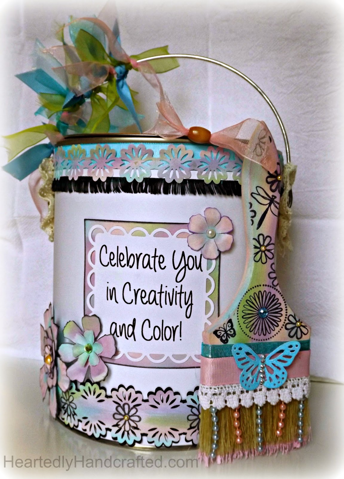 Altered Paint Can with Altered Paint Brush for Gift Giving