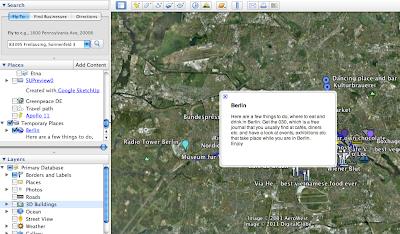 Google Earth - die eigene Karte öffnen und hineinzoomen