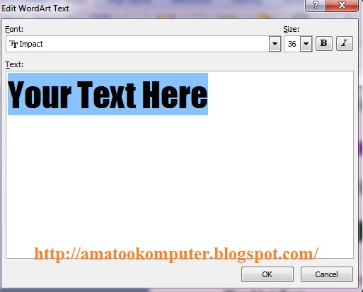 ... tips komputer, microsoft word 2007, tips word, membuat tulisan