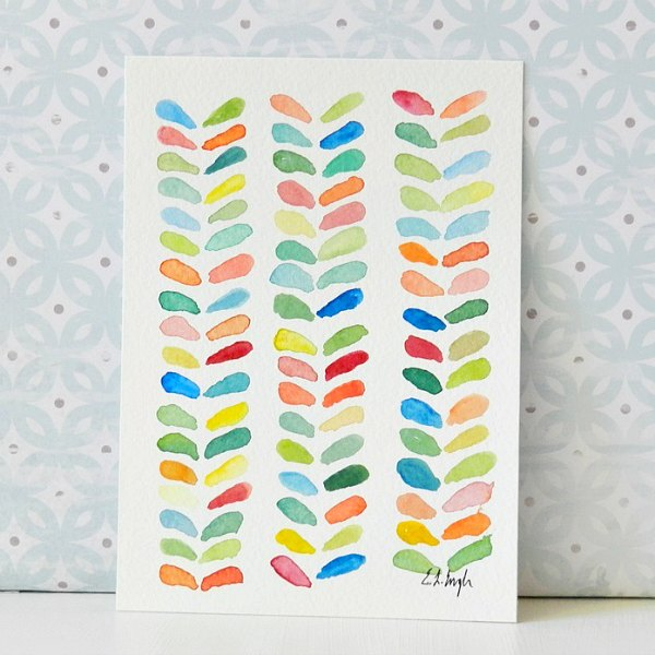 colorful watercolor leaf design: Elise Engh- Grow Creative