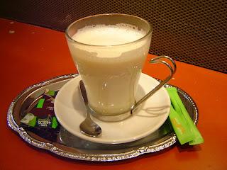 Chocolate quente branco light
