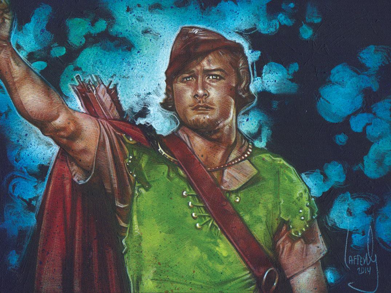 Errol Flynn as Robin Hood, Artwork is Copyright © 2014 Jeff Lafferty