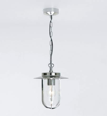 Montparnasse AX0671 Outdoor Pendant in Nickel finish, traditional style