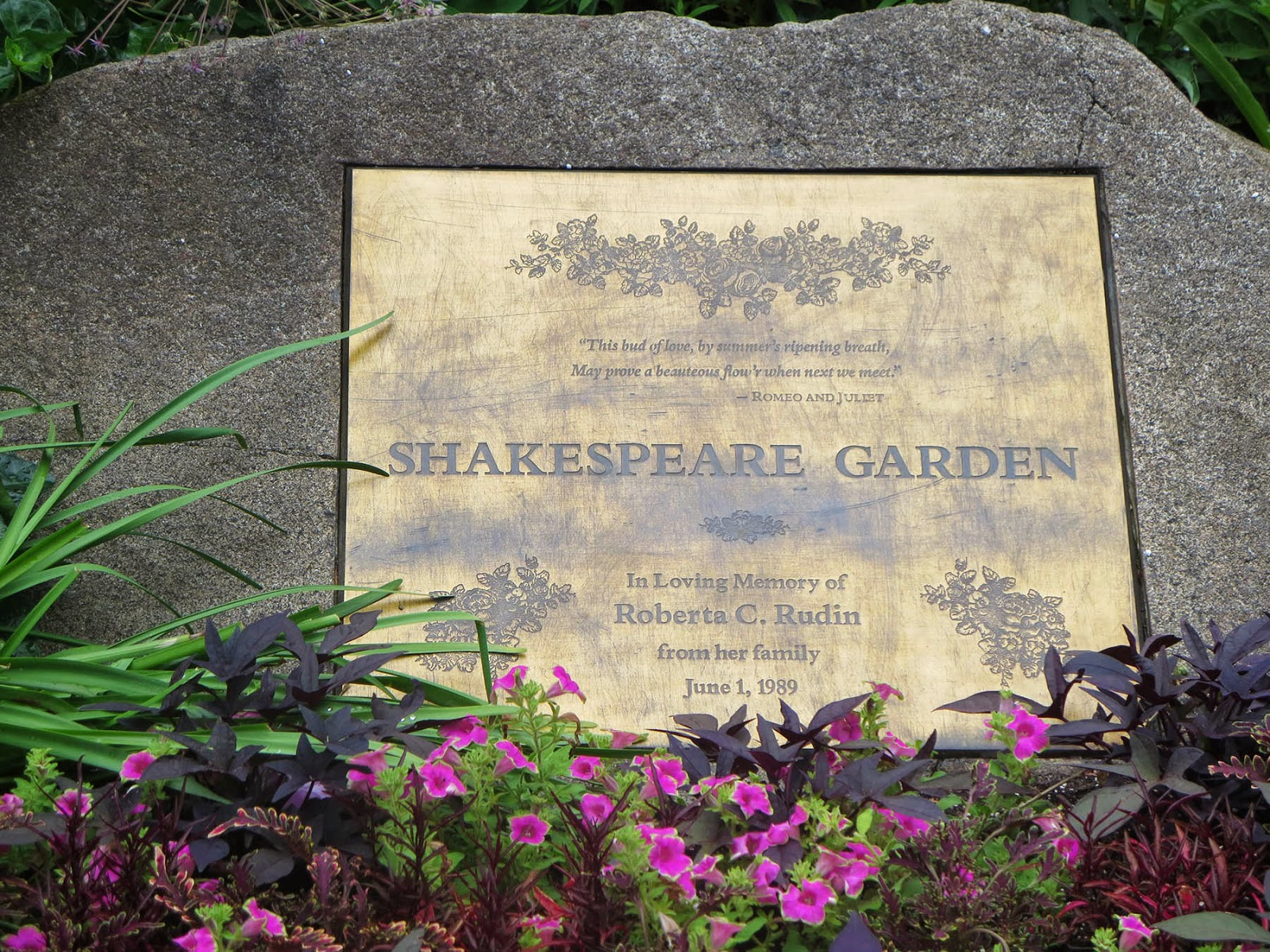 Big Apple Secrets Two Shakespeare Gardens