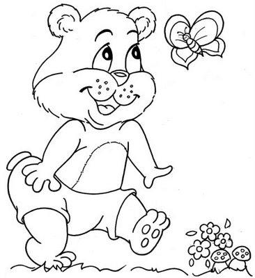 Desenho Para Colorir Lindo Ursinhos De Pelucia Imagens De Pintar
