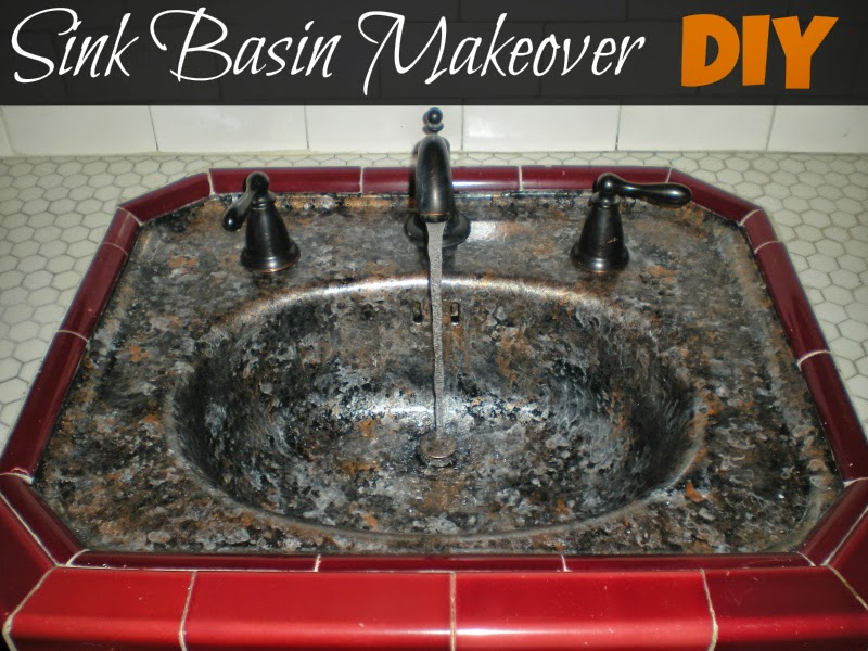 Giani Countertop Paint Kit In Bombay Black : Simply DIY: Sink Basin Makeover with Giani Granite Countertop Paint