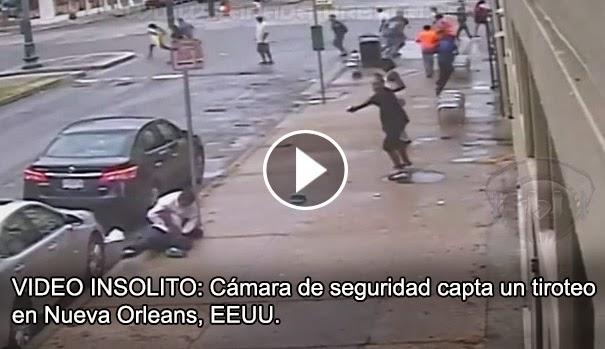 VIDEO IMPACTANTE: Cámara de seguridad capta un tiroteo, en Nueva Orleans, EEUU.