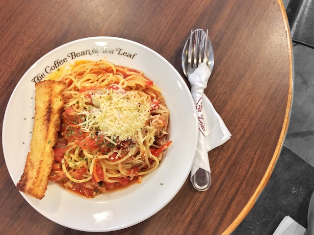 Coffee Bean and Tea Leaf at Tampines 1 - Chilli Tuna Linguine