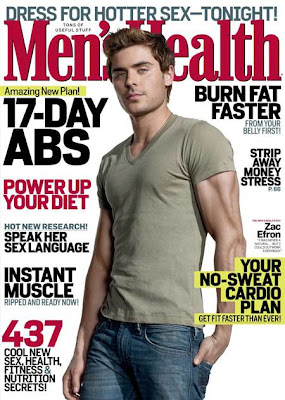 error de photoshop en revista zac efron mens health