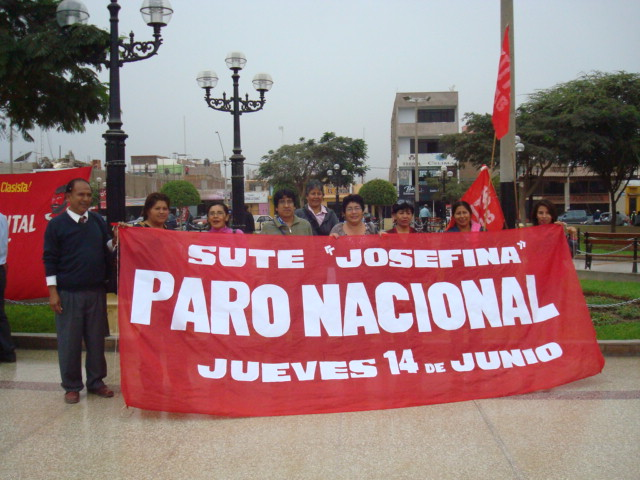 SUTEP NASCA: EXITOSO PARO DEL 14 DE JUNIO