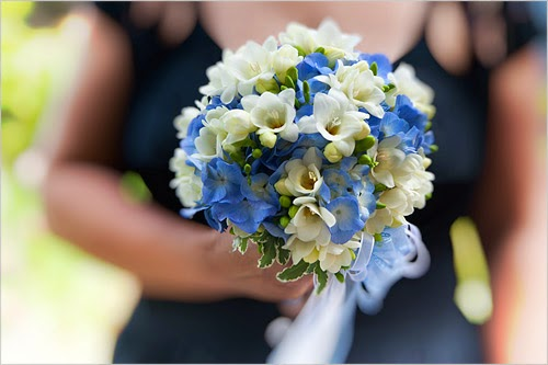 Ortensie Blu : Mille cose da ricamare res adnectunt il bouquet