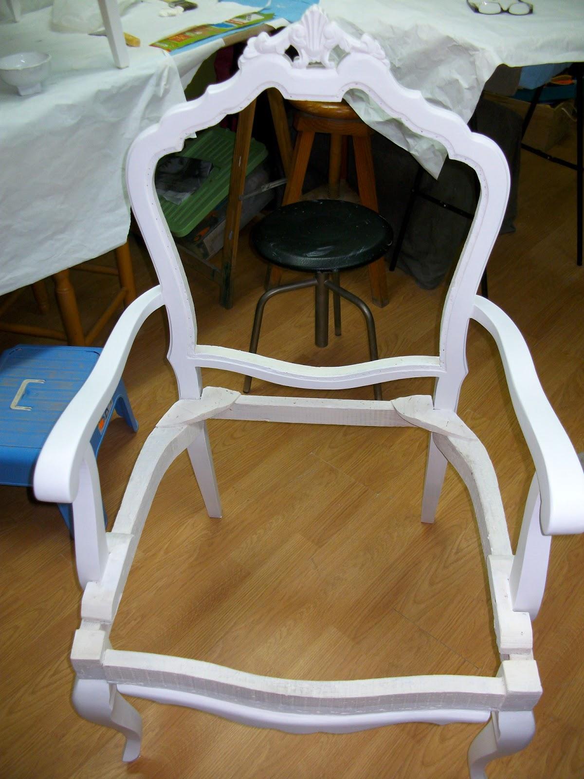 El blog de la restauradora tapizado de un sill n a os 50 - Como tapizar sillas antiguas ...