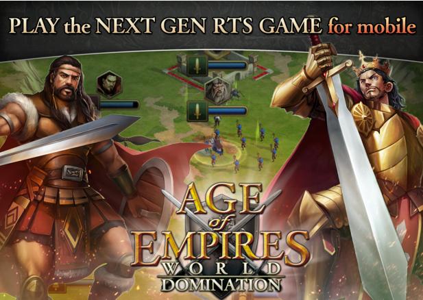 أطلقت شركة مايكروسوفت لعبة Age of Empires: World Domination للهواتف الذكية