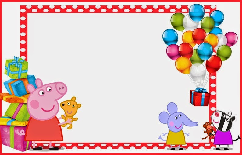Peppa Pig Free Printable Invitations Labels or Cards – Peppa Pig Birthday Card