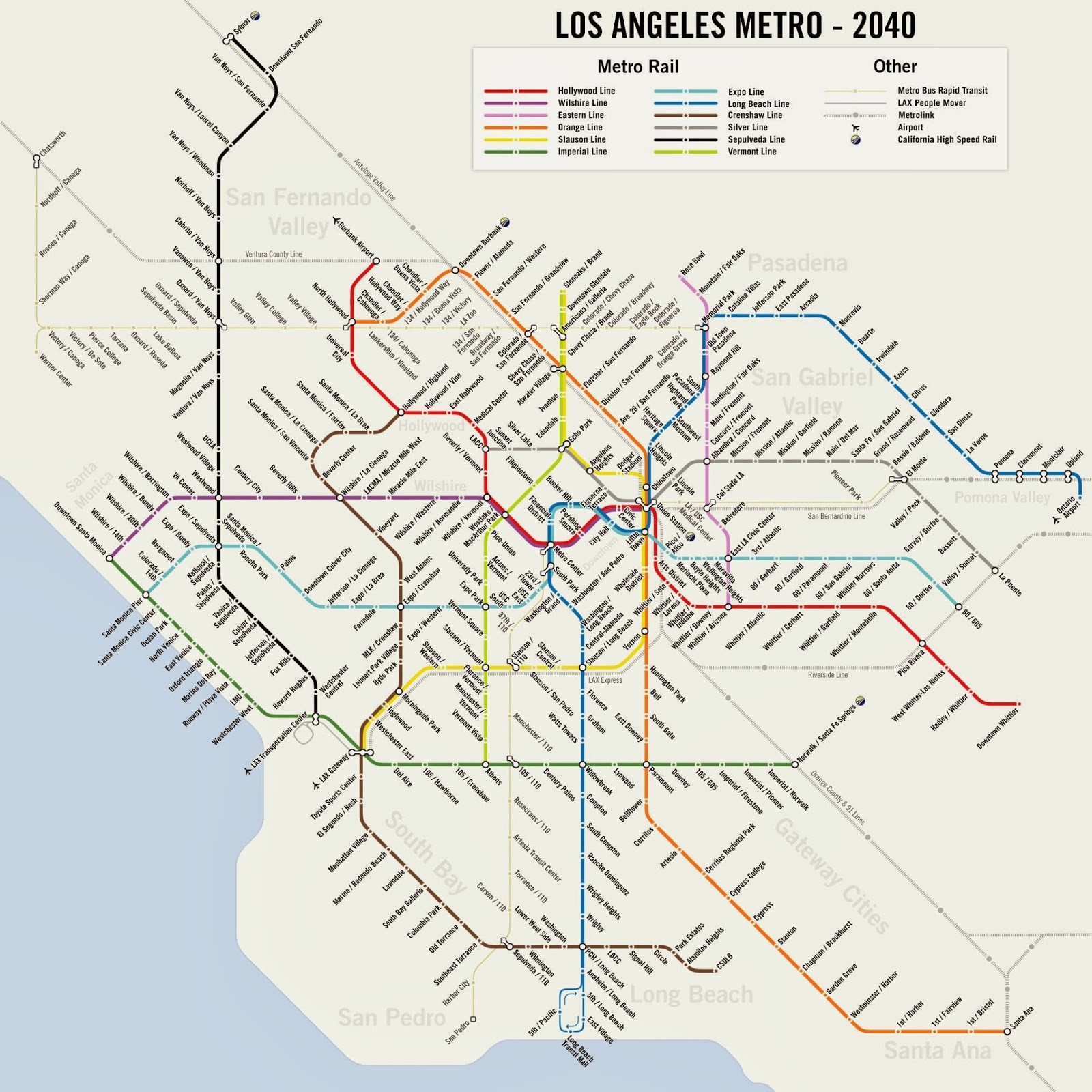 Map Of Los Angeles Metro Rail Stations Pictures To Pin On