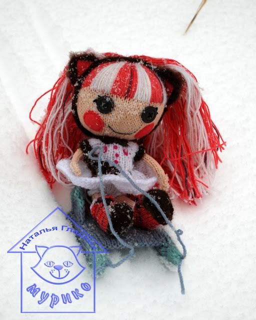 Куколка, игрушка, Lalaloopsy kat, авторская игрушка, вязанная игрушка, вязание спицами, детям, мурико