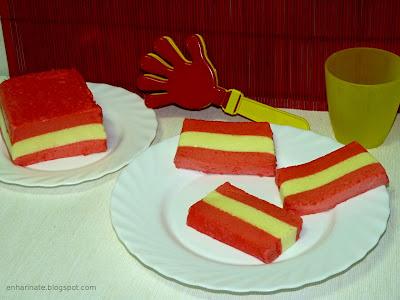 dulces con la bandera de España EnHarinate