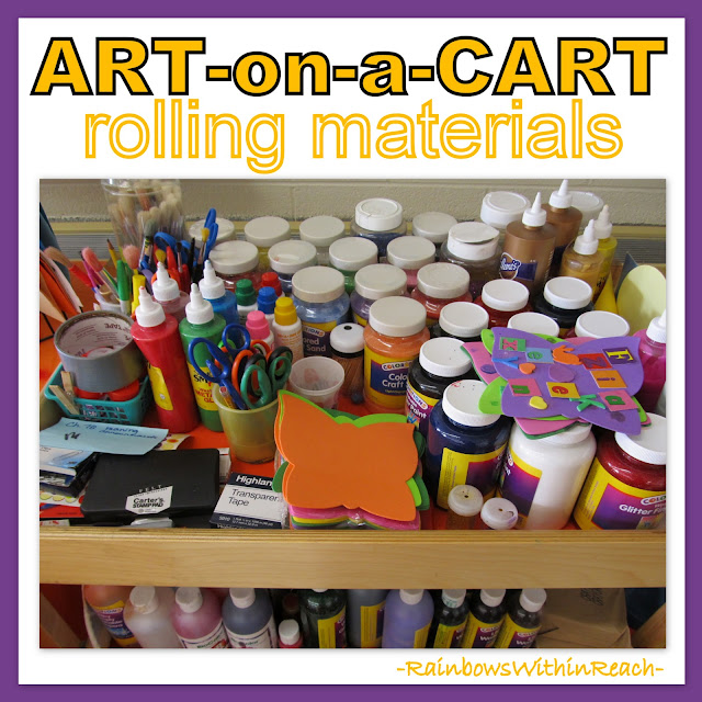 photo of: Art on a Cart Supplies Organized
