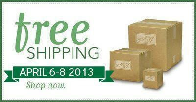 free shipping, stampin up, card making, scrapbooking