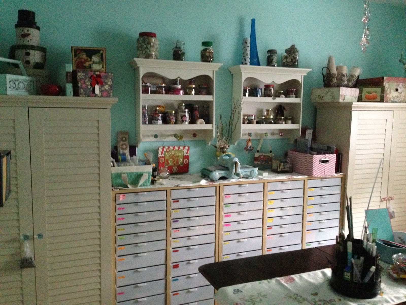 Card Making Storage Ideas Part - 47: Carol Cel Scrap Room Tour