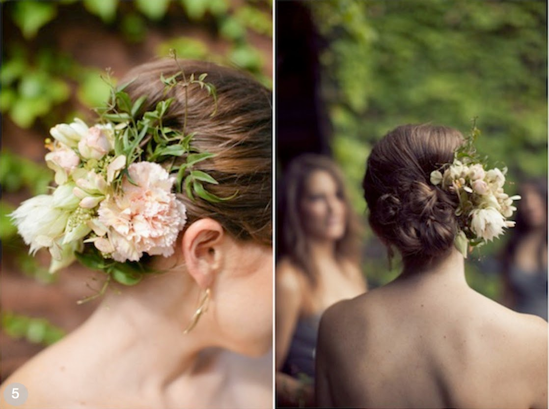 Bridal Updo Flower : Wedding hairstyles with flowers and hair down http
