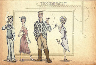 The Great Gatsby Illustration