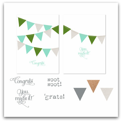 Stampin' Up! You Made It Grad Digital Greeting Card Template