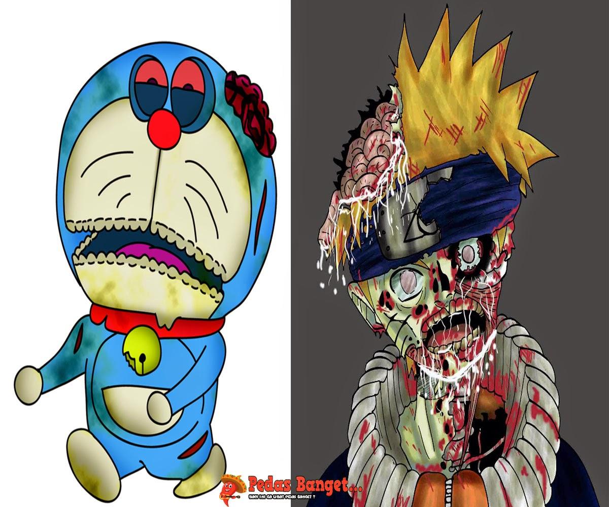 Ketika Karakter Tokoh Kartun Jadi Zombie