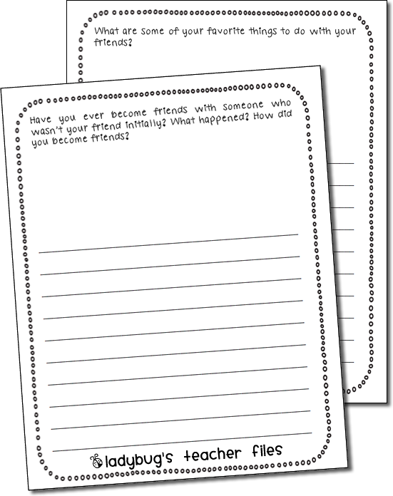 Enemy Pie (Friendship) Writing Activities - Ladybug's Teacher Files