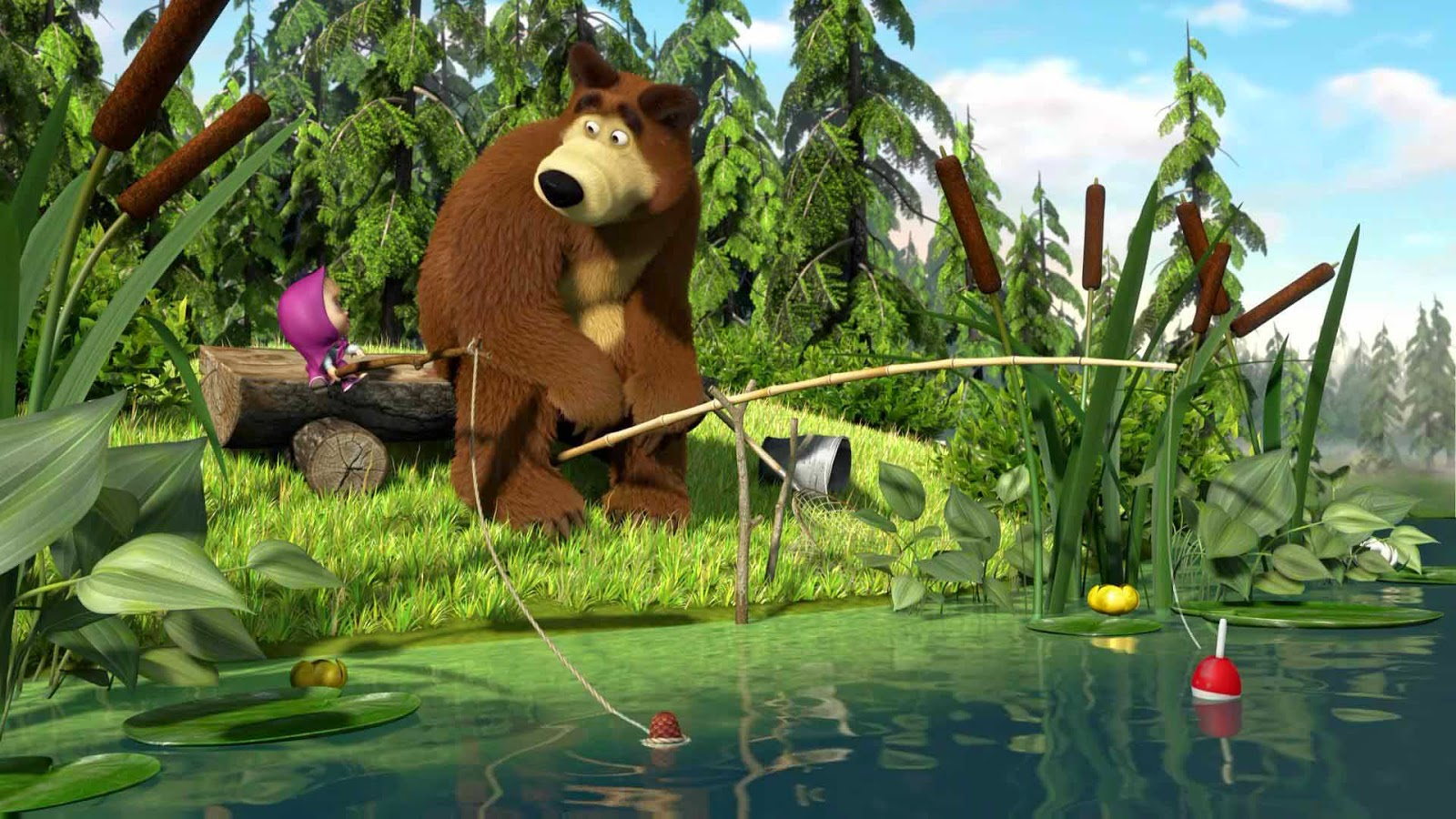 Wallpaper Masha and The Bear HD