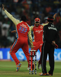 virat kohli and gayle start dancing on ground in ipl 2013