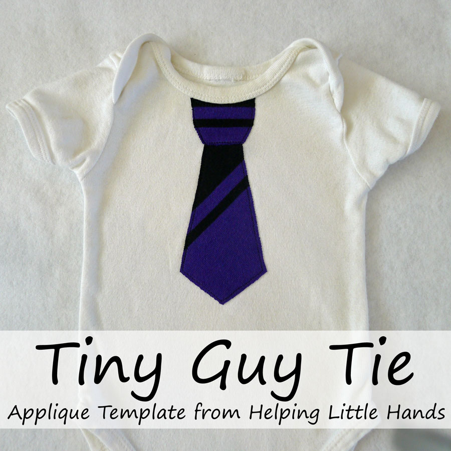pieces by polly tiny guy tie applique template