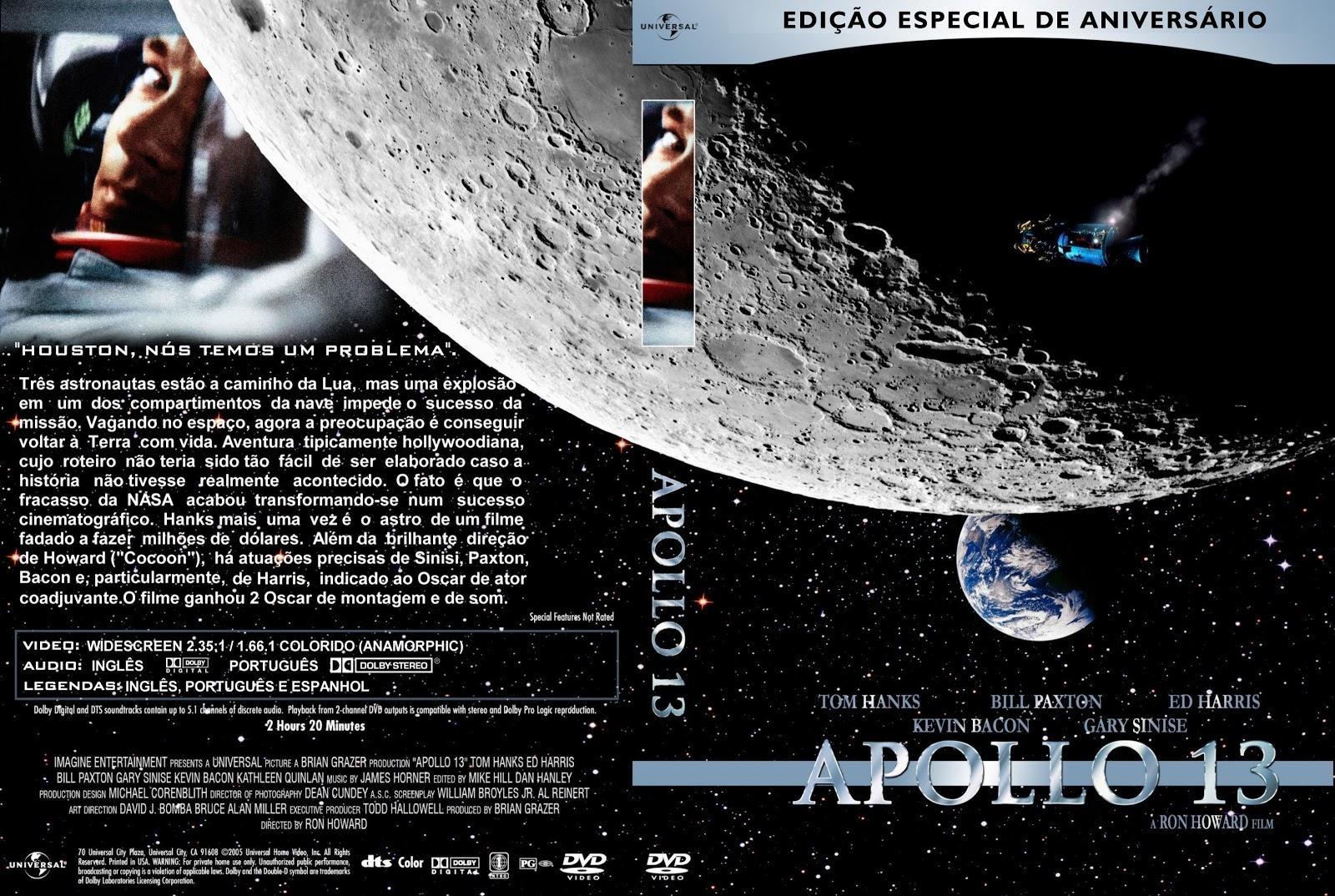 Capa DVD Apollo 13 Edição Especial De Aniversário