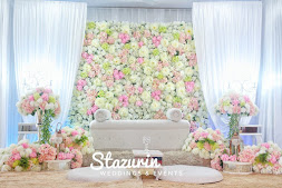 Pelamin Nikah Rumah Pelamin Bunga Penuh Pelamin Pastel Pink Peach
