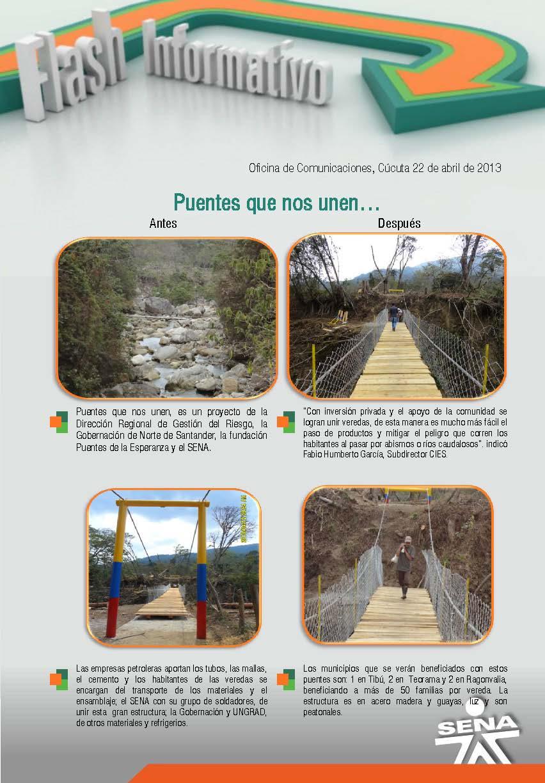 Regional norte de santander puentes que nos unen for Oficina de correos santander