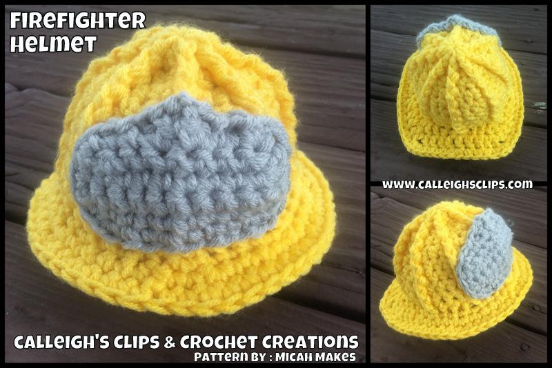 Calleighs Clips Crochet Creations Firefighter Set Crochet