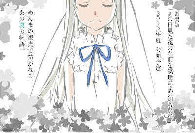 anohana anime anuncio pelicula movie 2013
