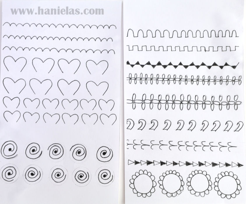 Hanielas Practicing Piping With Royal Icing Using Simple Templates - Pipe templates