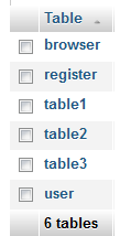 show tables using mysql_list_tables mysql query