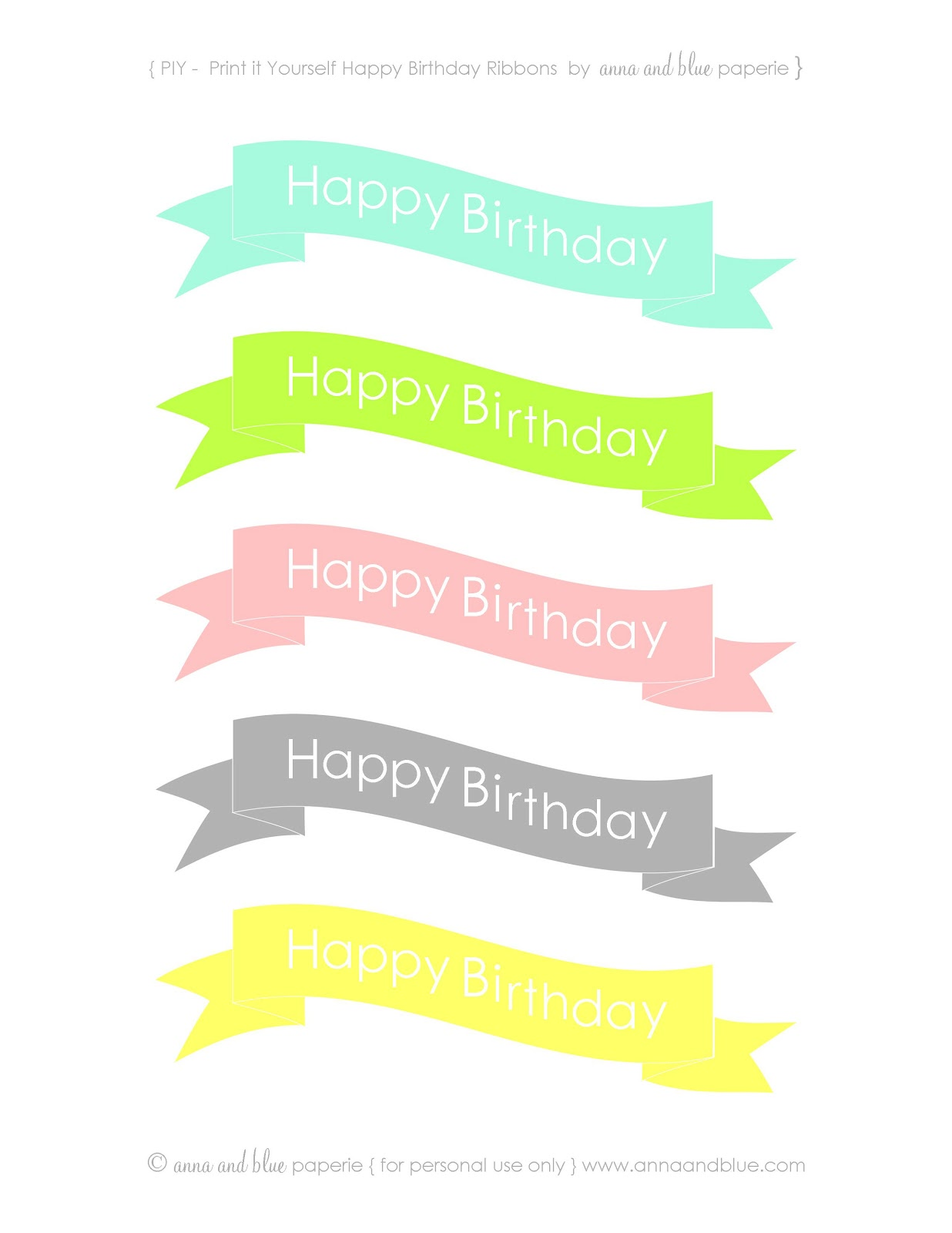 anna and blue paperie free printable happy birthday cake banners on cake happy birthday banner