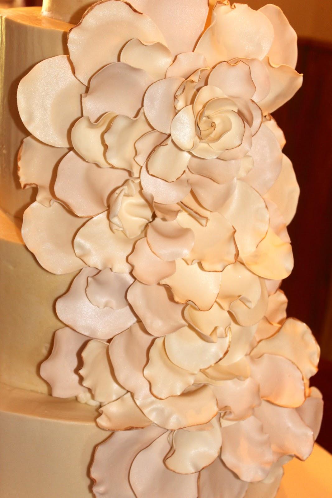 Sweet Stirrings: Rose Petal Wedding Cake