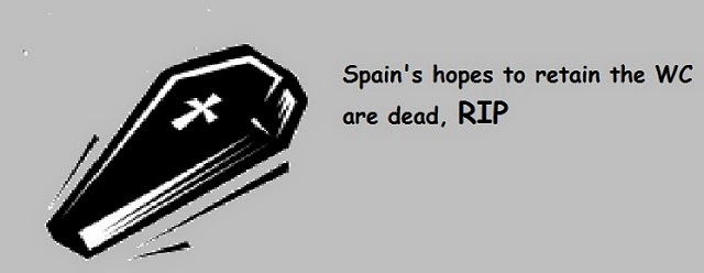 Spain's Hope To Win 2014 DC dashed - RIP