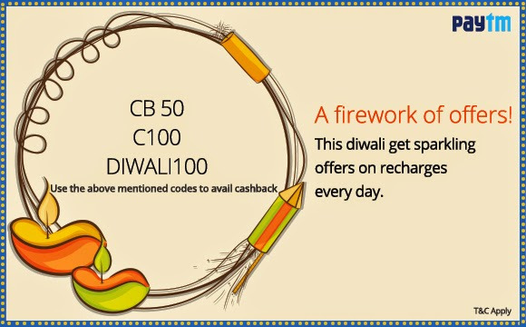 Sparkling Paytm Offer on this Diwali ( APP25, DIWALI100, C100 & DTH120 ), how to get cashback offer on paytm, diwali special offer, online mobile recharge, Pay bill online, recharge your dth easily