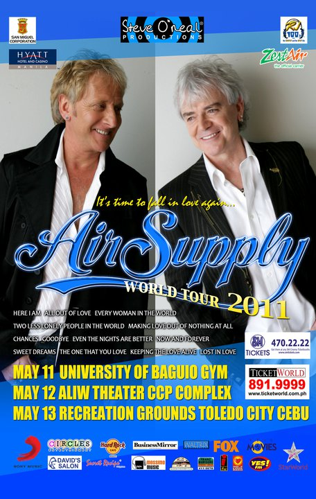 Air Supply LIVE in Manila Poster. picture, image, billboard, photos
