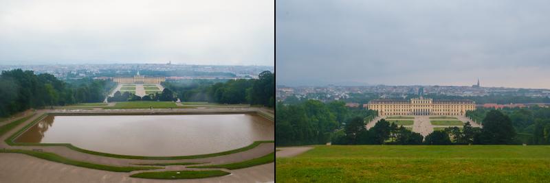 View from the gloriette in Schoönbrunn Palace in Vienna, Austria